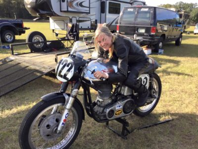 Cindy McLean, Norton Manx Racing
